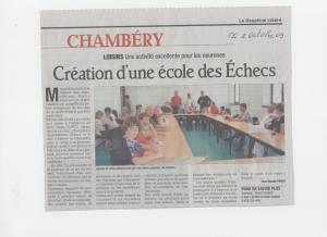 2009-10-02 Création ecole d'Echecs